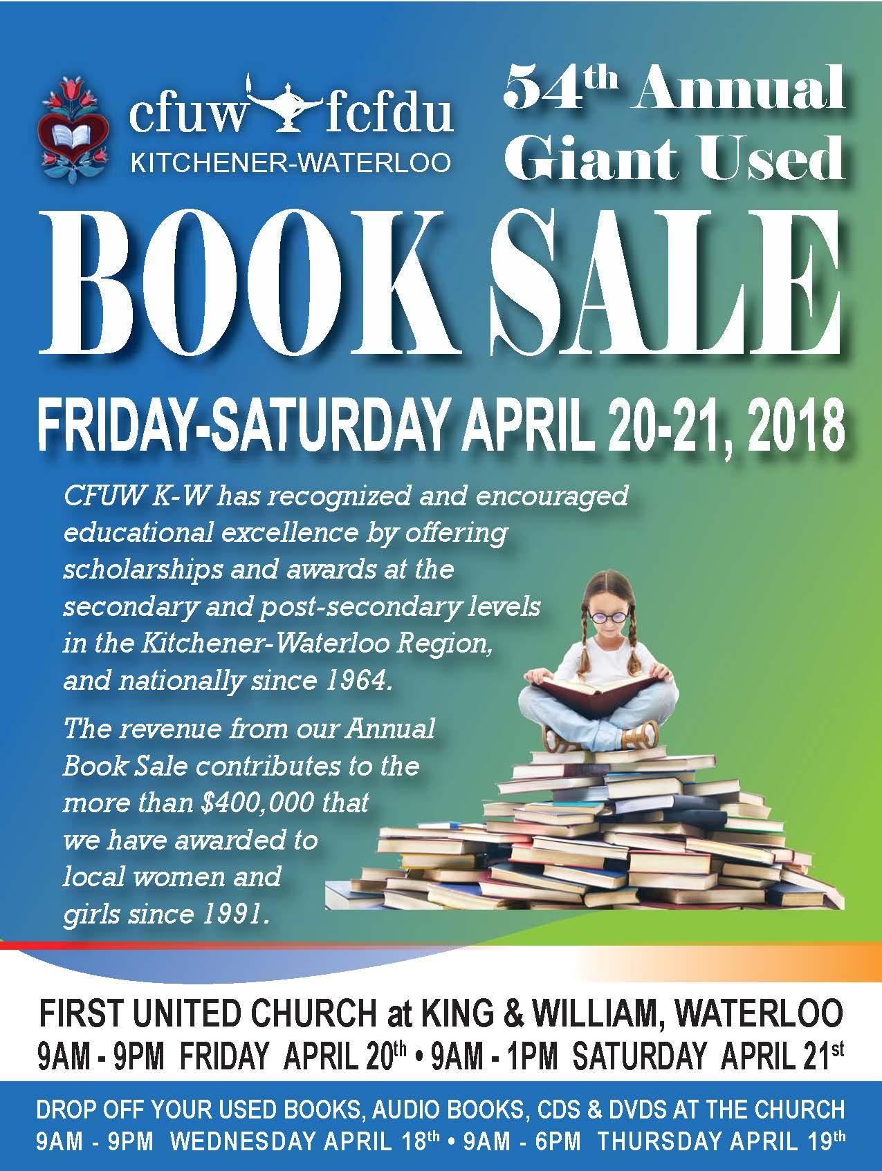 CFUW Kitchener Waterloo 54th Annual Used Book Sale – CFUW Ontario ...