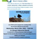 2020-03-25 CFUW Oshawa Doctrine of Discovery